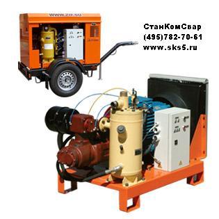 Передвижные компрессорные станции ПКСД-1,5/16 и ПКСД-1,4/25 с приводом от дизельного двигателя предназначены для выработки сжатого воздуха, давлением до 1,6/2.5 МПа (16/25 кгс/кв.см) при опрессовке технологических емкостей и трубопроводов!КТ6 для буровых