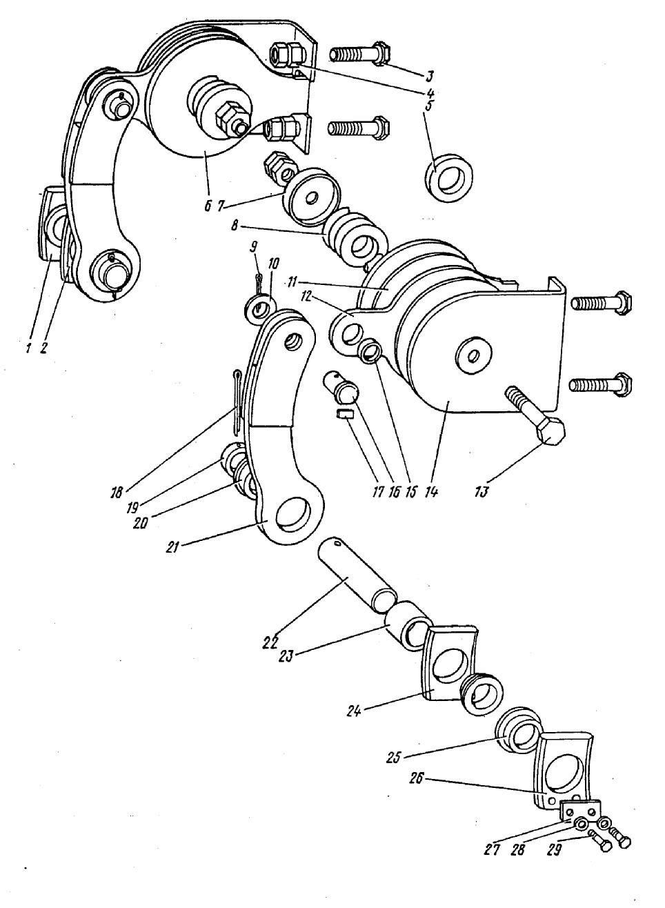 ЭКГ-5a производство запчаcтей: Механизм торможения днища ковша