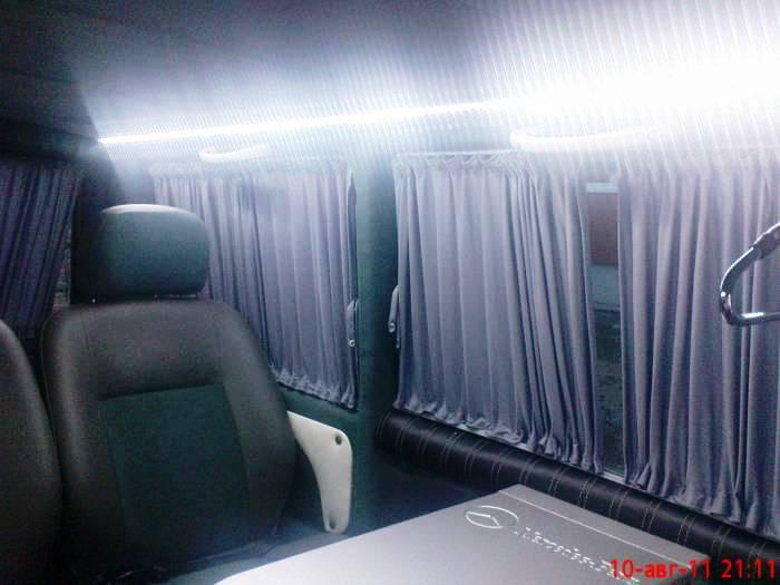 Переоборудование микроавтобусов  Перетяжка салона