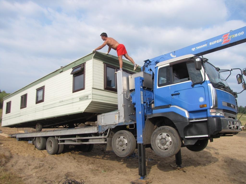 перевозка бытовок , перевозка строительных бытовок , перевозка негабаритных бытовок