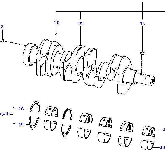 Поршень с кольцами на двигатель Cummins A2300 (Каминз А2300)