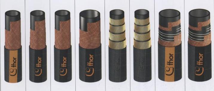 Рукава абразивные из натуральной каучуковой резины ( марка NR ) тип T 720 AA , T 750 AA производство Alfagomma и DUNA производство THOR Италия