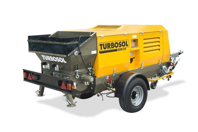 Бетононасос TURBOSOL BETON MASTER Plus (Италия) 30куб.м/час в исполнении на колёсах с прицепным устройством или без