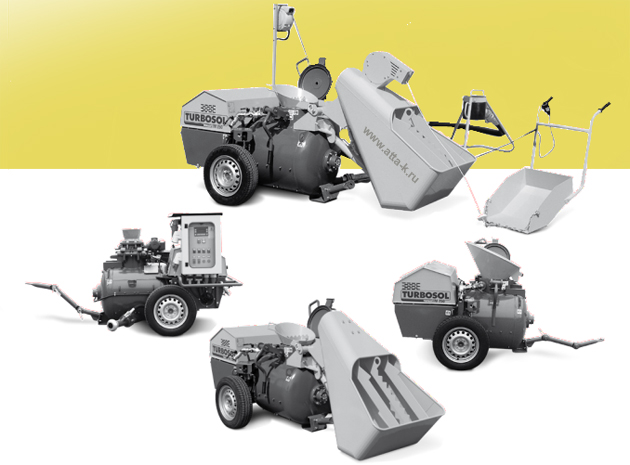 Бетоносмеситель для заливки полов автономный TURBOSOL(Италия) TRANSMAT 27.45 DIESEL предназначен для приготовления и подачи жестких и полужестких бетонных смесей с максимальной крупностью наполнителя до 18 мм без электро подключения.