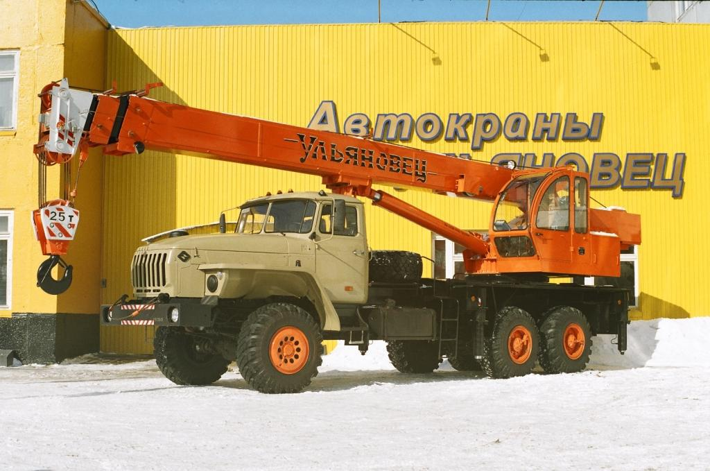 Автокран Ульяновец МКТ-25.5  на шасси  УРАЛ-4320 (длина стрелы 21,7 м)