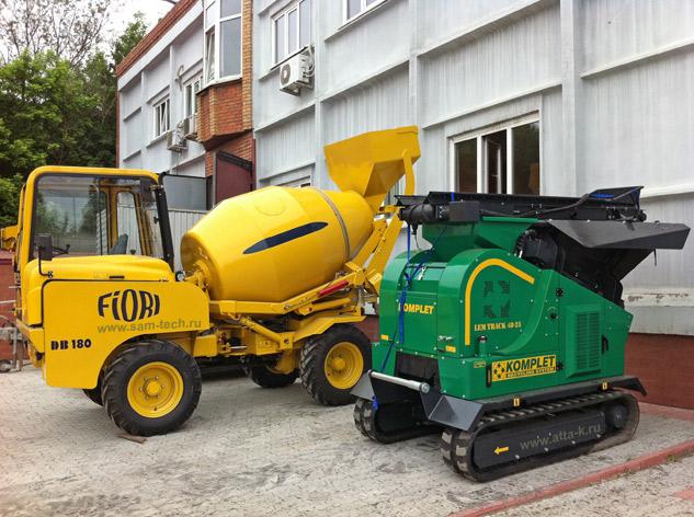Дробильно сортировочные комплексы 5 - 100 кубм/час габаритные Италия новые в наличии и на заказ