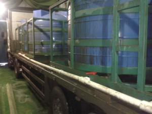 Емкости для хранения и транспортировки агрессивных химических сред (до 1,6 г/см3), усиленные