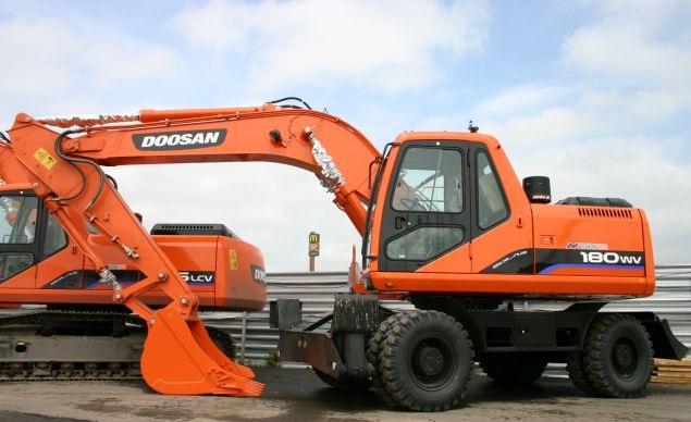 Колесный экскаватор Doosan S180W-V