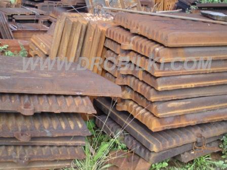 Плиты дробящие к СМ-741,плиты дробящие к СМД-108А,плиты дробящие к СМД-110