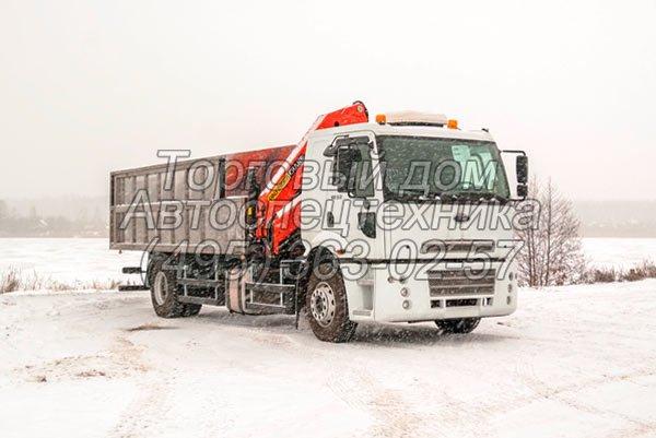 Ford Cargo 1832 с КМУ - для перевозки радиоактивных отходов