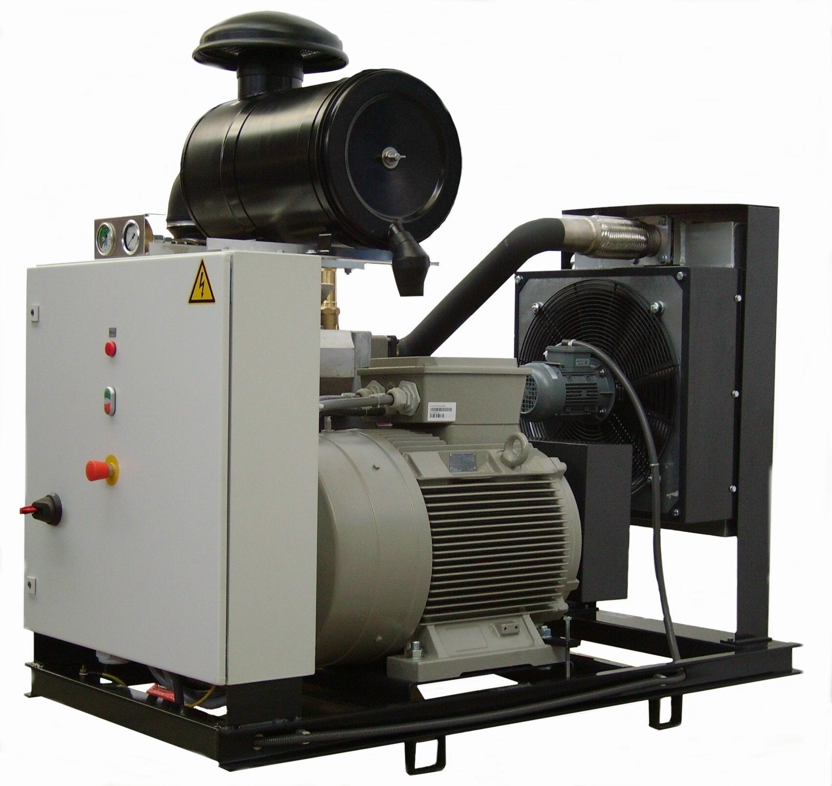 Компрессорные агрегаты CVS с воздушным и масляным охладителем