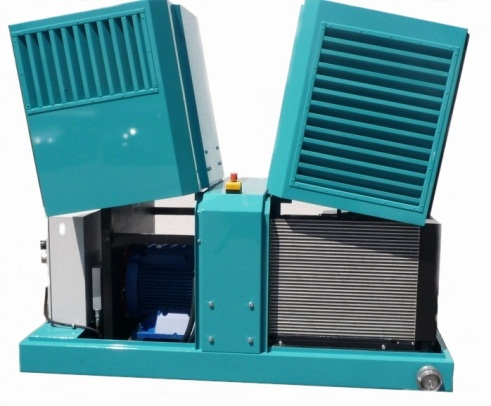 Компрессорные агрегаты с электроприводом, воздушным и масляным охладителем