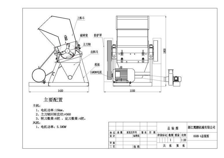 Дробилка для пластика схема