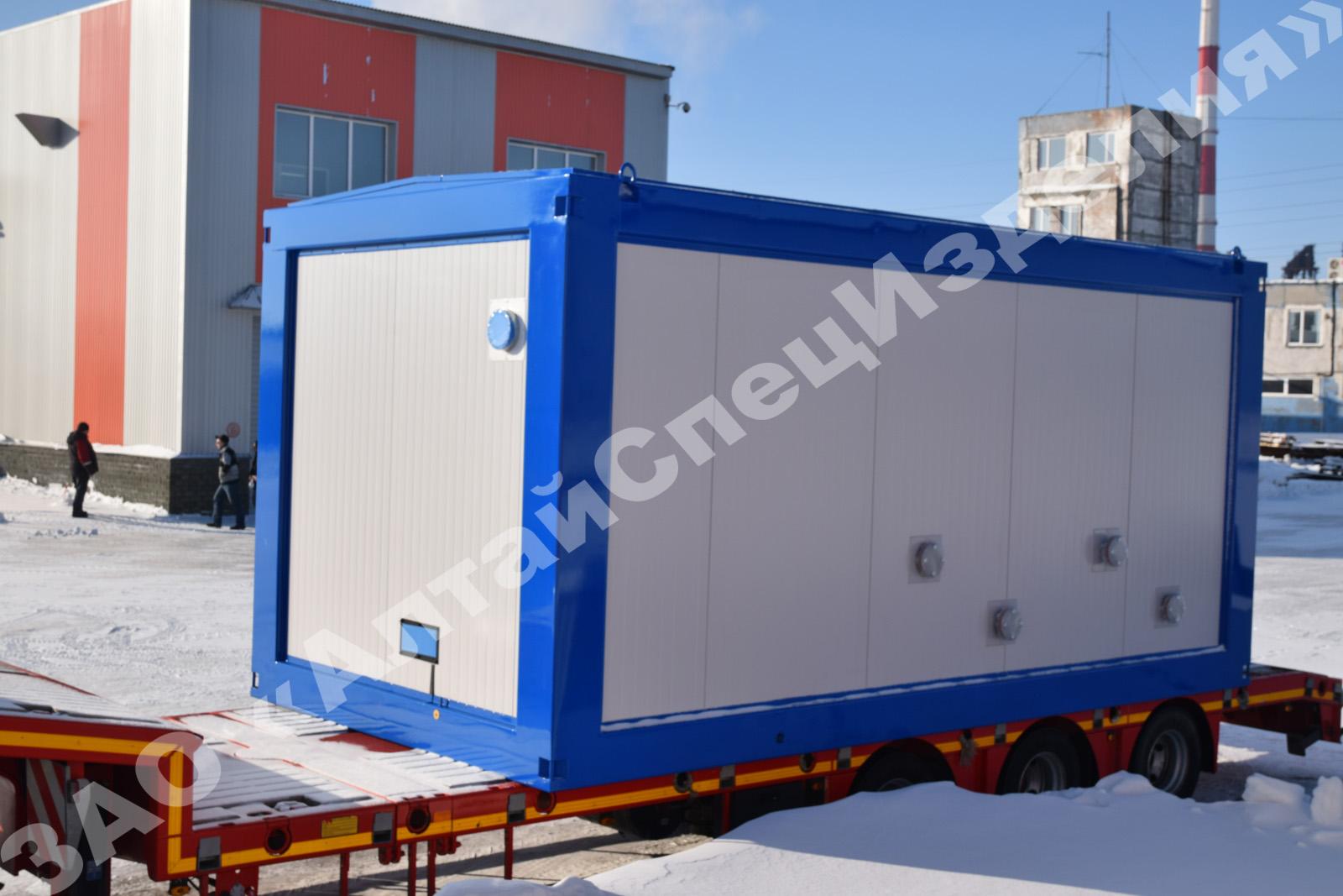 АлтайСпецИзделия производит: блочная кустовая насосная станция (БКНС), блочно-модульные автоматизированные насосные станции