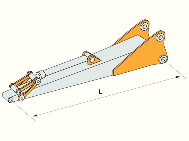 Гусек удлинитель 3 метра с гидроцилиндром на экскаватор