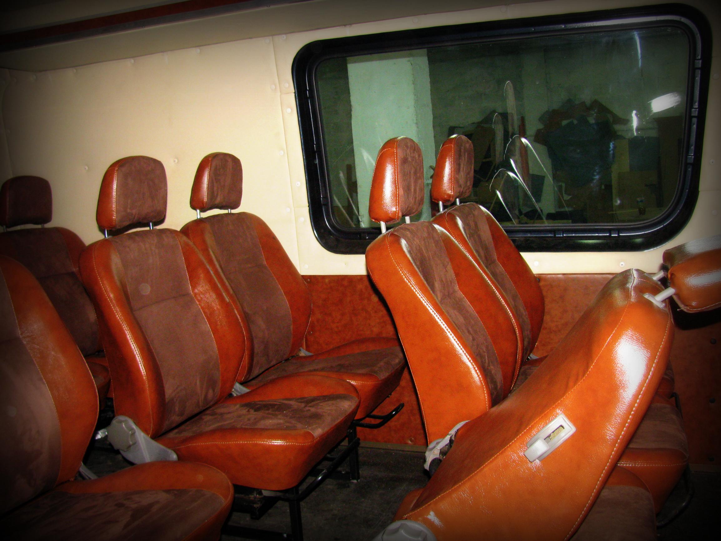 Переоборудование переделка обшивка перетяжка микроавтобусов
