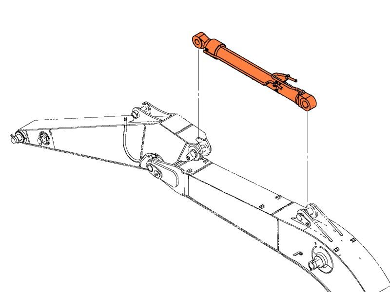 Цилиндр рукояти на хитачи  ZX240-3 ZX270-3 hitachi
