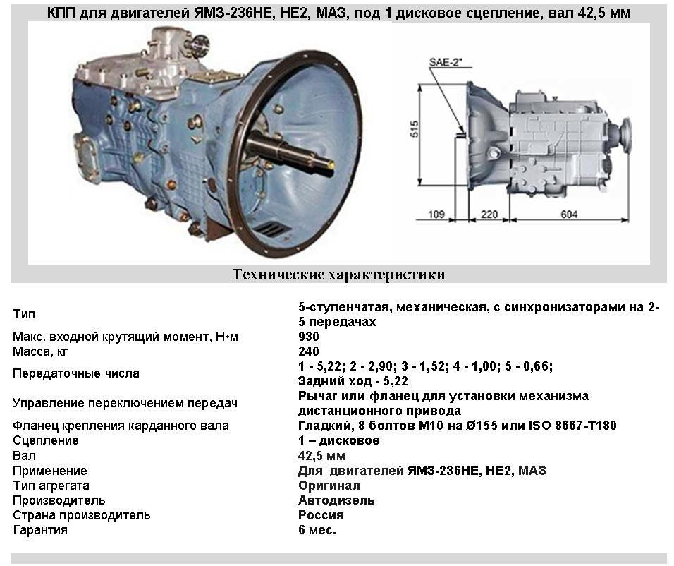 КПП ЛАЗ, ЛиАЗ, МАЗ, МАРЗ, Волжанин, Неман для ЯМЗ-236НЕ НЕ2 236С-1700004-10