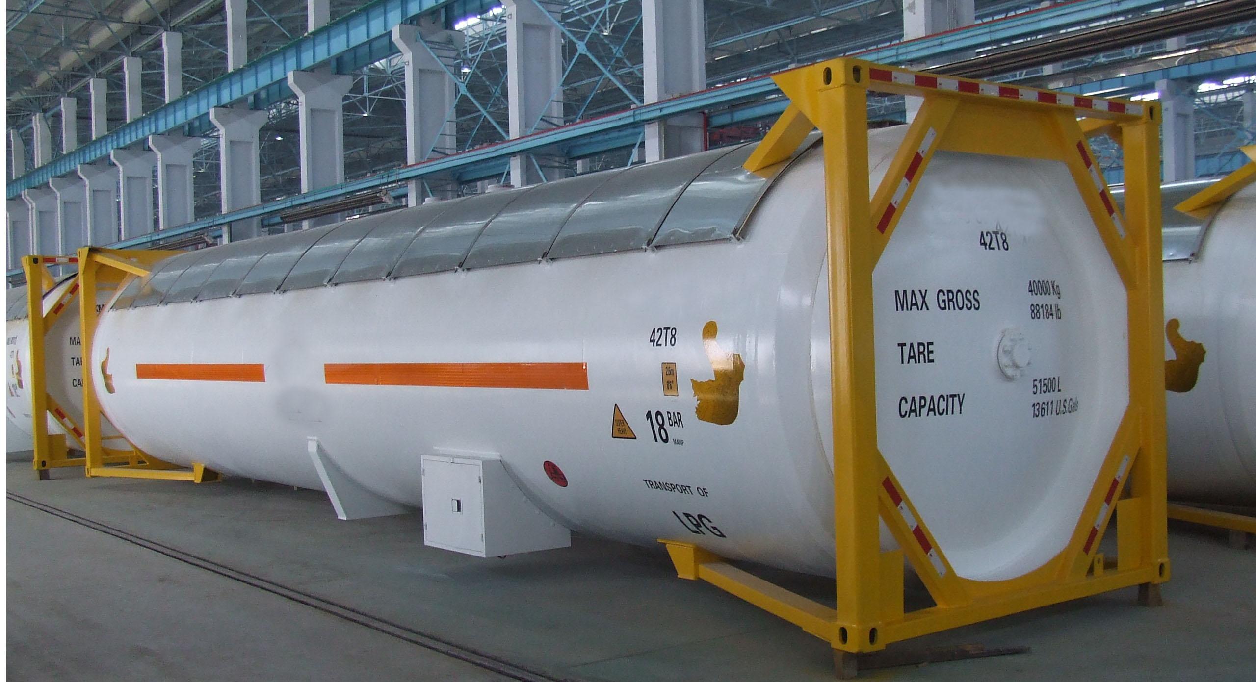 Танк-контейнер Т50 новый вместимостью 52 м3 для СУГ (LPG)