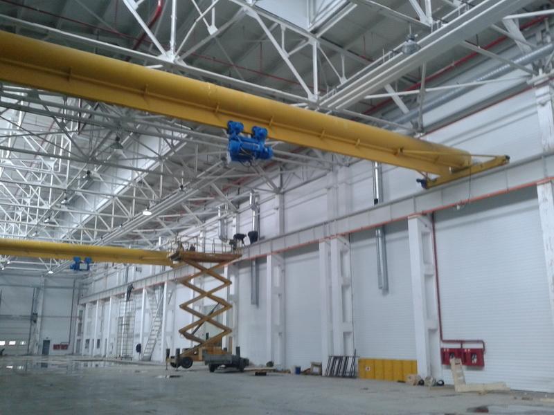 Кран мостовой однобалочный г/п г/п 12.5 тн, пролет 16.5 м