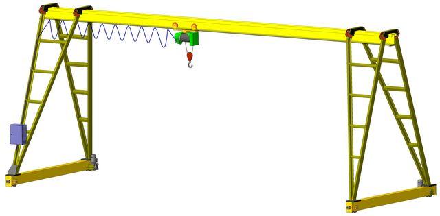 Кран козловой 5 тн пролет 12.5 м