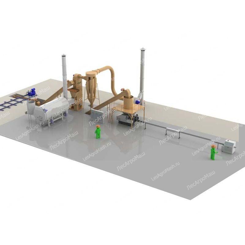 Линия производства топливных брикетов ЛПБ-400 - от Производителя