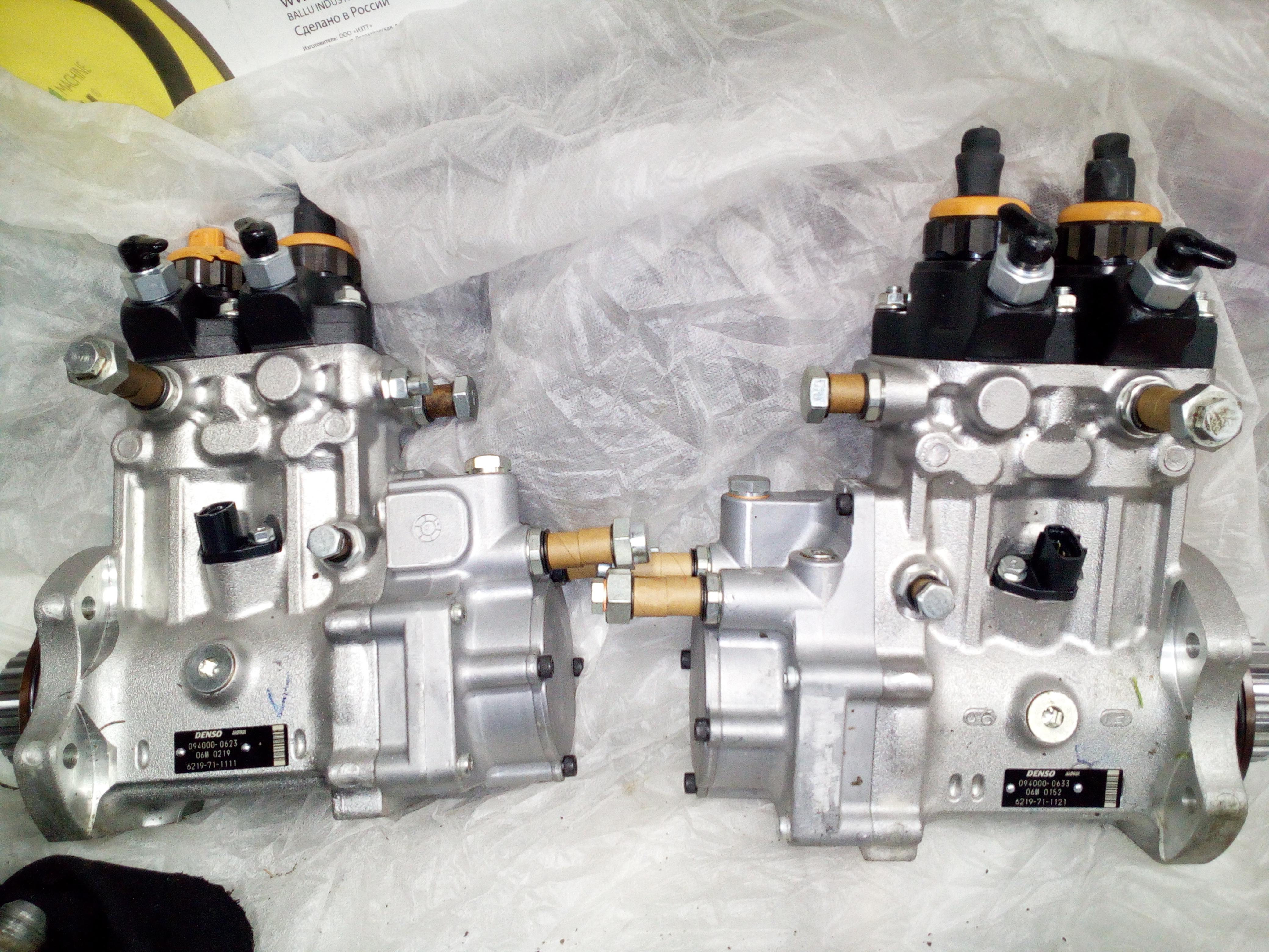 НОВЫЕ ТНВД KOMATSU 6219-71-1111, 6219-71-1121, injection fuel pump.