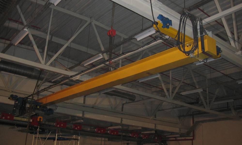 Кран мостовой однобалочный подвесной г/п 1 тн