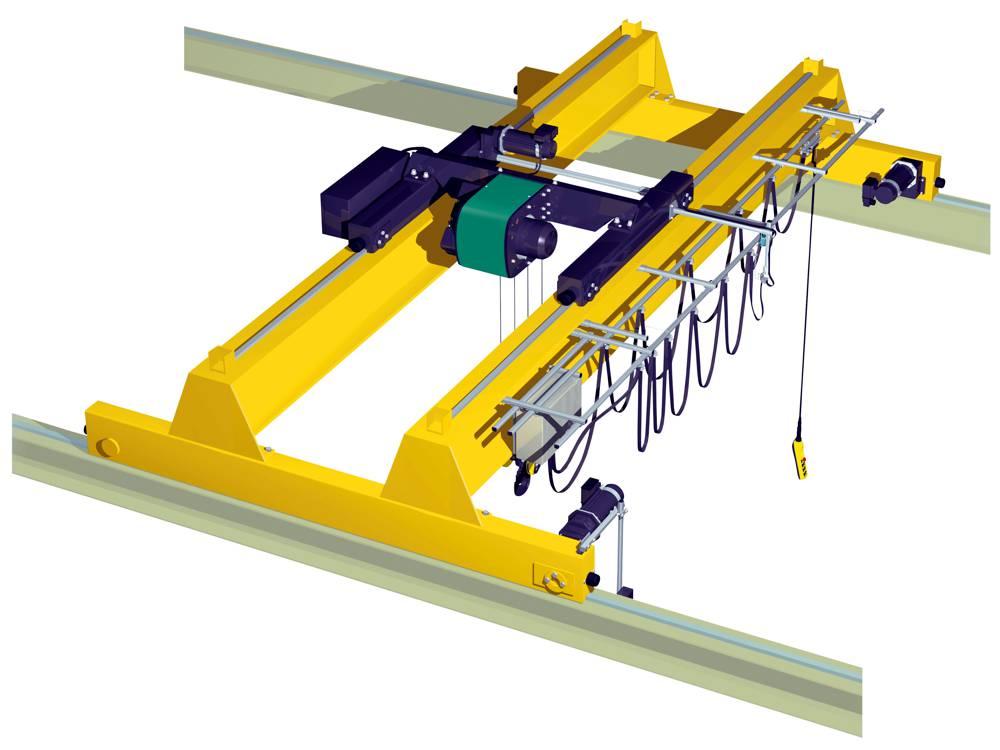 Кран мостовой двухбалочный опорный г/п 10 тн
