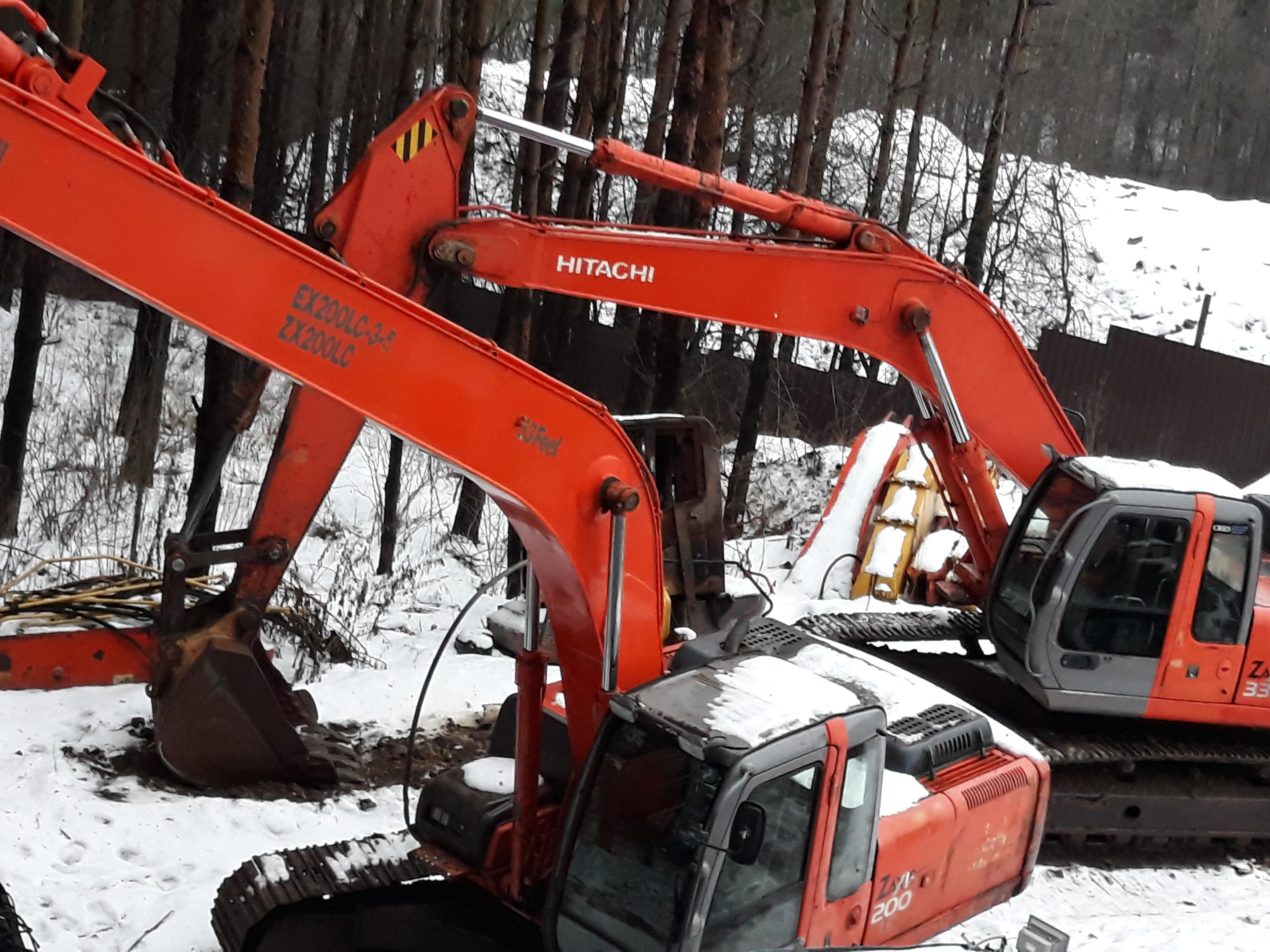 Рукоять ковш двигатель кабина Хитачи Hitachi Jcb Komatsu б/у