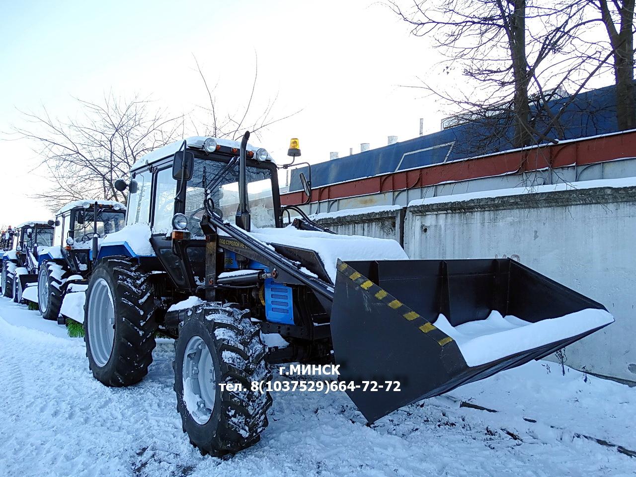 МУП-351 машина уборочно-погрузочная на базе МТЗ-82.1-23/12, г/п 1000 кг