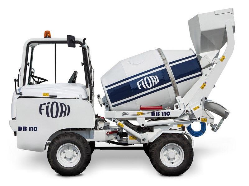Бетоносмеситель с самозагрузкой Fiori DB110 мобильный бетонозавод 40м3/смен