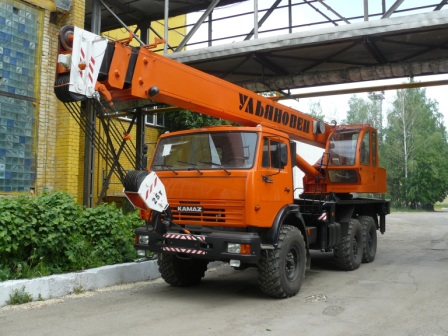 Автомобильный  кран МКТ 25.7 грузоподъемностью 25 тонн на шасси КАМАЗ-43118