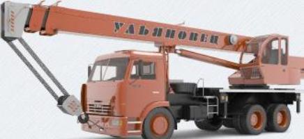 Автомобильный  кран МКТ 25.1 грузоподъемностью 25 тонн на шасси КАМАЗ-65115
