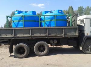 Емкости для перевозки, перекачки воды, агрохимии, жидких удобрений и вязких жидкостей «Кассета 4500х2 S».